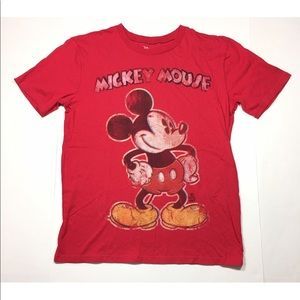 Disney's Mickey Mouse Red Short Sleeve T-Shirt S